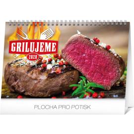 Stolní kalendář Grilujeme SK 2020 , 23,1 × 14,5 cm