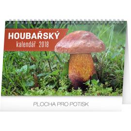 Stolní kalendář Houbařský kalendář 2018, 23,1 x 14,5 cm