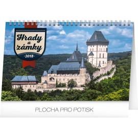 Stolní kalendář Hrady a zámky 2018, 23,1 x 14,5 cm