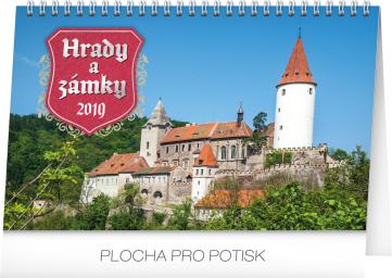 Stolní kalendář Hrady a zámky 2019, 23,1 x 14,5 cm