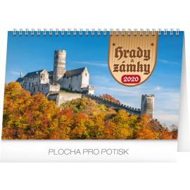 Stolní kalendář Hrady a zámky 2020, 23,1 × 14,5 cm