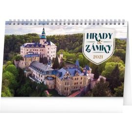 Desk calendar Castles 2021, 23,1 × 14,5 cm