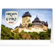 Stolní kalendář Hrady a zámky 2022, 23,1 × 14,5 cm