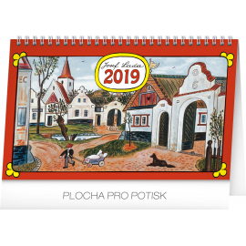 Desk calendar Josef Lada – In the village 2019, 23,1 x 14,5 cm