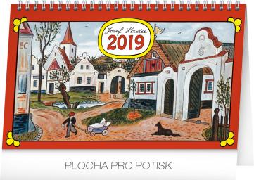Stolní kalendář Josef Lada – Na vsi 2019, 23,1 x 14,5 cm