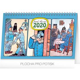 Stolní kalendář Josef Lada – Švejk 2020, 23,1 × 14,5 cm