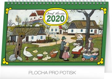 Stolní kalendář Josef Lada – Tradice a zvyky 2020, 23,1 × 14,5 cm