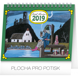Desk calendar Josef Lada - Water sprite 2019, 16,5 x 13 cm