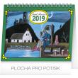 Stolní kalendář Josef Lada – Vodník 2019, 16,5 x 13 cm