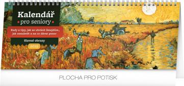 Stolní kalendář Kalendář pro seniory 2019, 33 x 12,5 cm