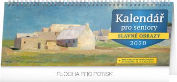 Stolní kalendář Kalendář pro seniory 2020, 33 × 12,5 cm