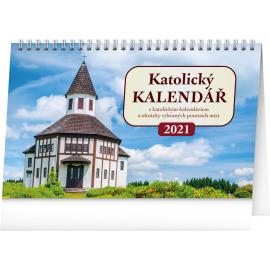 Stolní kalendář Katolický kalendář 2021, 23,1 × 14,5 cm