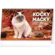 Stolní kalendář Kočky – Mačky CZ/SK 2021, 23,1 × 14,5 cm