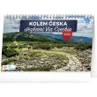 Stolní kalendář Kolem Česka stezkami Via Czechia 2022, 23,1 × 14,5 cm