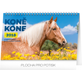 Stolní kalendář Koně – Kone CZ/SK 2018, 23,1 x 14,5 cm