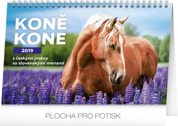 Stolní kalendář Koně – Kone CZ/SK 2019, 23,1 x 14,5 cm