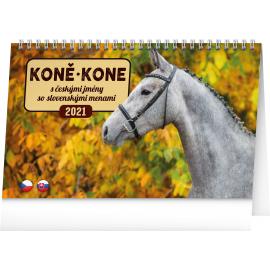Stolní kalendář Koně – Kone CZ/SK 2021, 23,1 × 14,5 cm