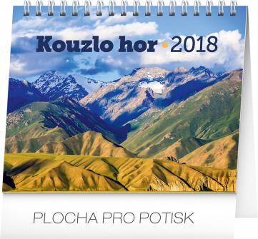 Stolní kalendář Kouzlo hor 2018, 16,5 x 13 cm