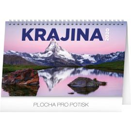 Stolní kalendář Krajina CZ/SK 2020, 23,1 × 14,5 cm