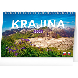 Desk calendar Landscapes CZ/SK 2021, 23,1 × 14,5 cm