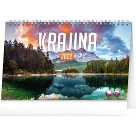 Stolní kalendář Krajina CZ/SK 2022, 23,1 × 14,5 cm