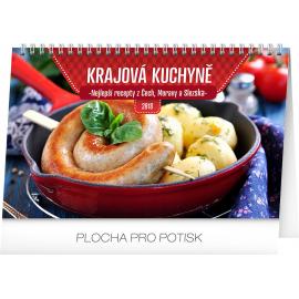 Stolní kalendář Krajová kuchyně 2018, 23,1 x 14,5 cm