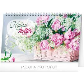 Stolní kalendář Krása květin 2017, 23,1 x 14,5 cm