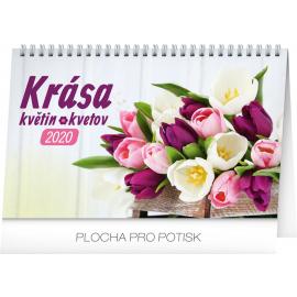 Stolní kalendář Krása květin – Krása kvetov CZ/SK 2020, 23,1 × 14,5 cm