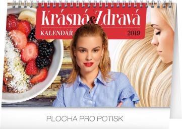 Stolní kalendář Krásná a zdravá 2019, 23,1 x 14,5 cm