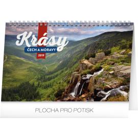 Desk calendar Czech and Moravian beauty 2019, 23,1 x 14,5 cm