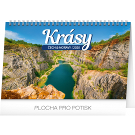 Desk calendar Czech and Moravian beauty 2020, 23,1 × 14,5 cm