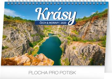 Stolní kalendář Krásy Čech a Moravy 2020, 23,1 × 14,5 cm