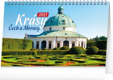 Stolní kalendář Krásy Čech a Moravy 2021, 23,1 × 14,5 cm