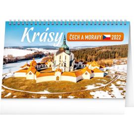 Stolní kalendář Krásy Čech a Moravy 2022, 23,1 × 14,5 cm
