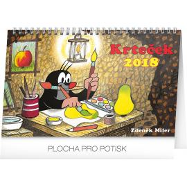 Stolní kalendář Krteček 2018, 23,1 x 14,5 cm