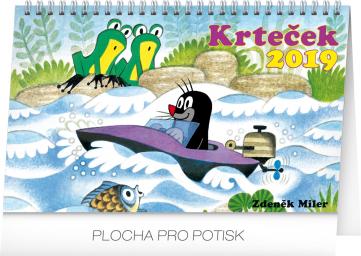 Stolní kalendář Krteček 2019, 23,1 x 14,5 cm