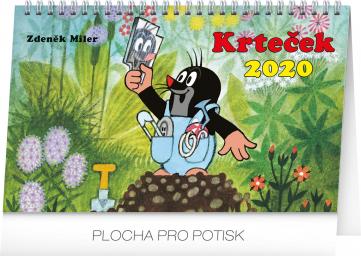 Stolní kalendář Krteček 2020, 23,1 × 14,5 cm