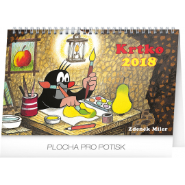 Stolní kalendář Krtko SK 2018, 23,1 x 14,5 cm