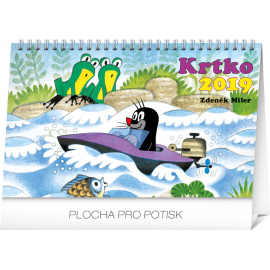 Stolní kalendář Krtko SK 2019, 23,1 x 14,5 cm