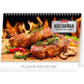 Stolní kalendář Kuchařka (ne)jen pro muže 2018, 23,1 x 14,5 cm
