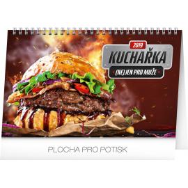 Desk calendar Cookbook for men 2019, 23,1 x 14,5 cm