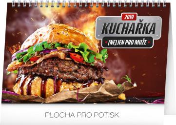 Stolní kalendář Kuchařka (ne)jen pro muže 2019, 23,1 x 14,5 cm