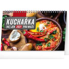 Stolní kalendář Kuchařka (ne)jen pro muže 2021, 23,1 × 14,5 cm
