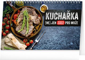 Stolní kalendář Kuchařka (ne)jen pro muže 2022, 23,1 × 14,5 cm