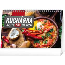 Desk calendar Cookbook for Men SK 2021, 23,1 × 14,5 cm