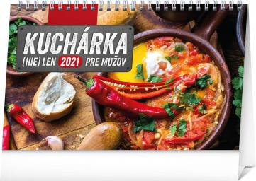 Stolní kalendář Kuchárka (nie)len pre mužov SK 2021, 23,1 × 14,5 cm
