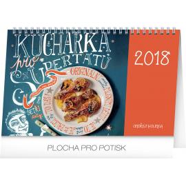 Stolní kalendář Kuchařka pro supertátu 2018, 23,1 x 14,5 cm