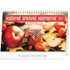 Stolní kalendář Kuchyně správné hospodyně 2017, 23,1 x 14,5 cm