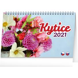 Desk calendar Flowers 2021, 23,1 × 14,5 cm