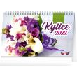 Stolní kalendář Kytice CZ/SK 2022, 23,1 × 14,5 cm